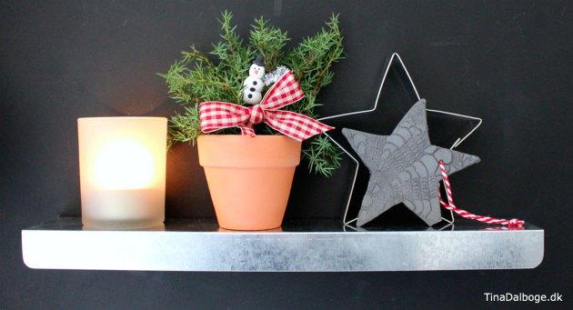 stjerne lavet af selvhaerdende ler - enkelt julepynt og juledekoration