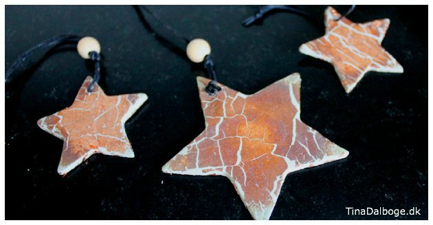 stjerner man selv kan lave til julepynt i ler og kobber bladmetal tina dalboge
