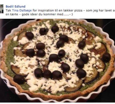 tærte med spinat, hvidløgsost, aubergine og feta