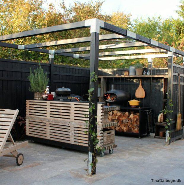 udekøkken plus bord af traller tinadalboge.dk