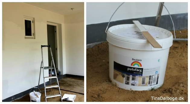 udendoers murmaling malet på mur og facade
