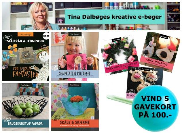 udvalg af kreative e-bøger fra Tina Dalbøge