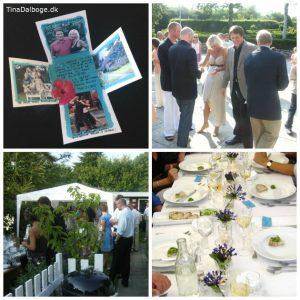 Anderledes bryllupsfest med festlige detaljer
