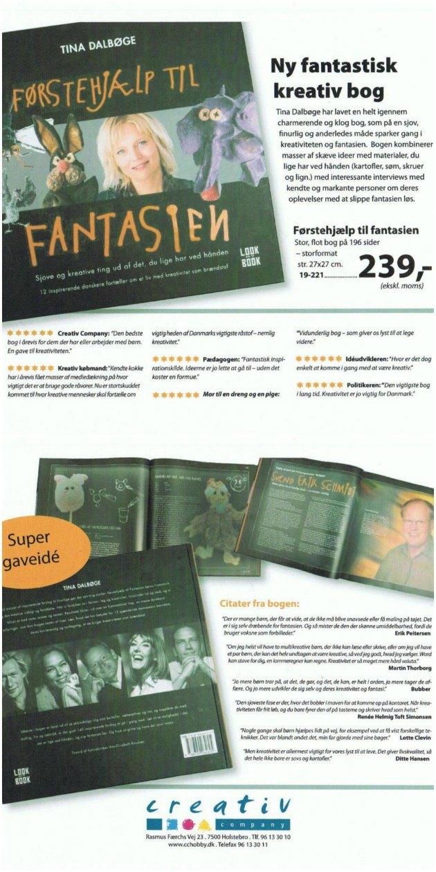 Tina Dalbøges bog Førstehjælp til fantasien