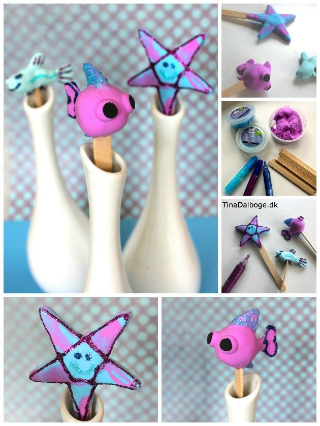 Figurer lavet af Silk Clay fra Kreahobshop.dk - god kreativ til noget børn let selv kan arbejde med - ide fra Tina Dalbøges kreative blog