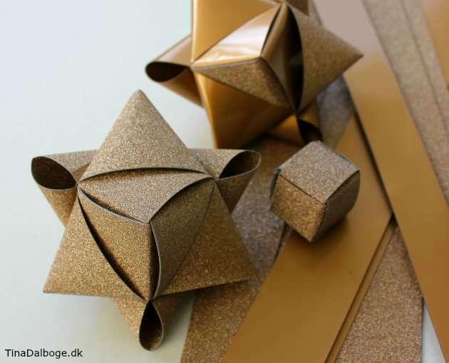 Ide til hvordan man kan folde stjerne er stjernestrimler
