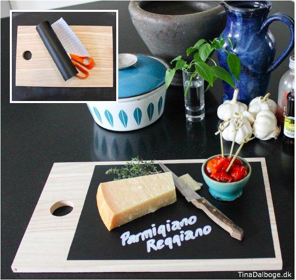 Idé med tavlefolie fra Tina Dalboges ebog Kreativ med tavler - tavlefolie fra Kreahobshop.dk