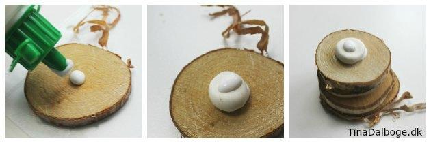 Ide til hvordan laver man et enkelt og nemt juletræ af træskiver og silkclay