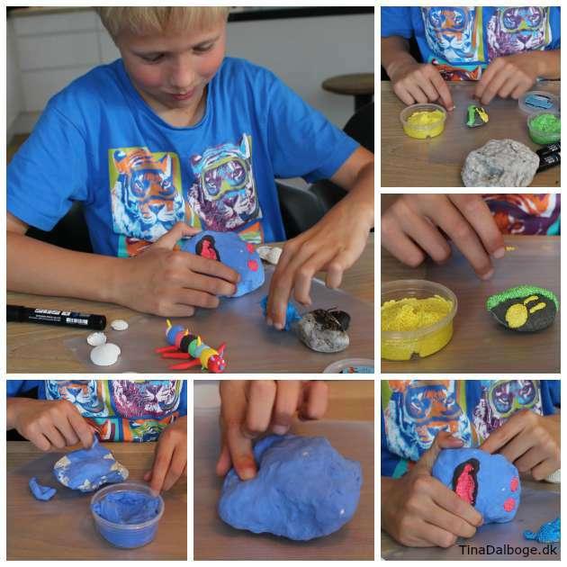 Børneide til leg med modellering