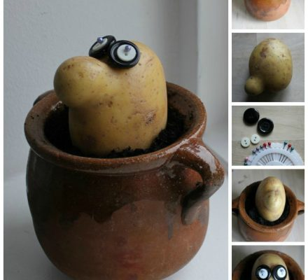 sjov mand af kartoffel