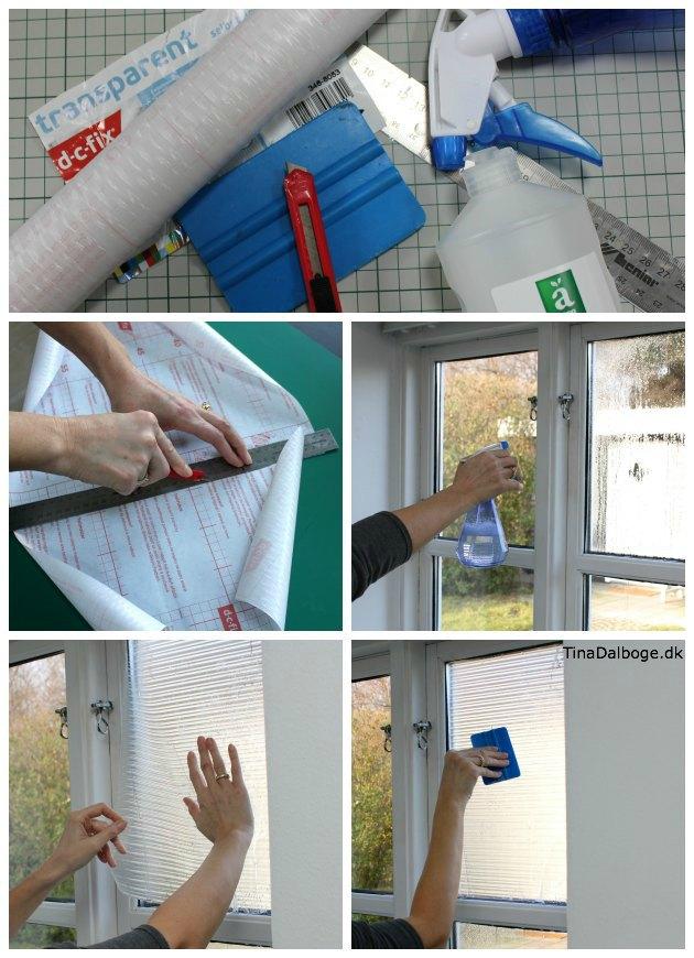 Sådan sætter man folie og film på glas og vinduer Tina Dalbøge