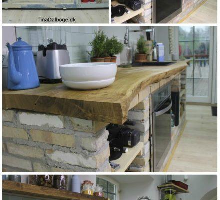 Frihuset - køkkenbord bordplade i egetræ