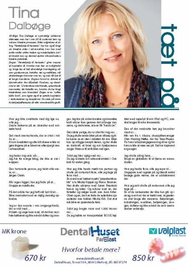 kreativ blogger og foredragsholder Tina Dalbøge