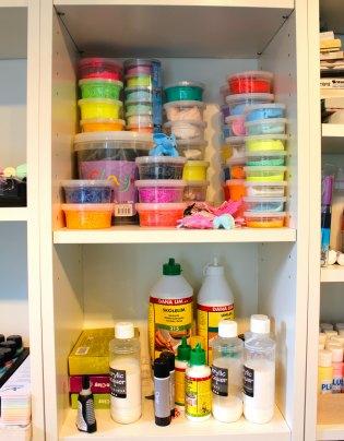 Tina Dalbøges kreative værksted - Værktoret - Silk Clay og Foam Clay, lim og lak