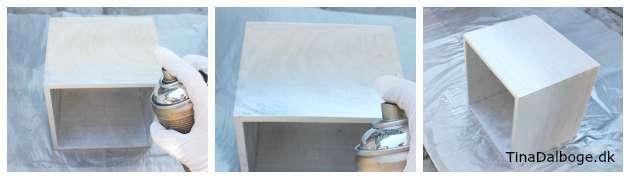 Alvorlig Trækasser til vægdekoration - her med spraymalingTinadalbøge.dk XB06