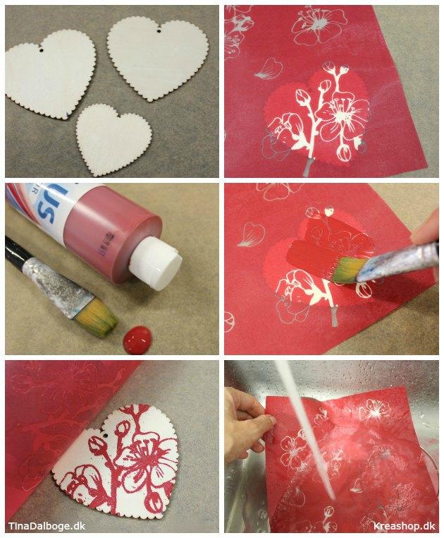 anderledes og unik julepynt lavet af hjerter