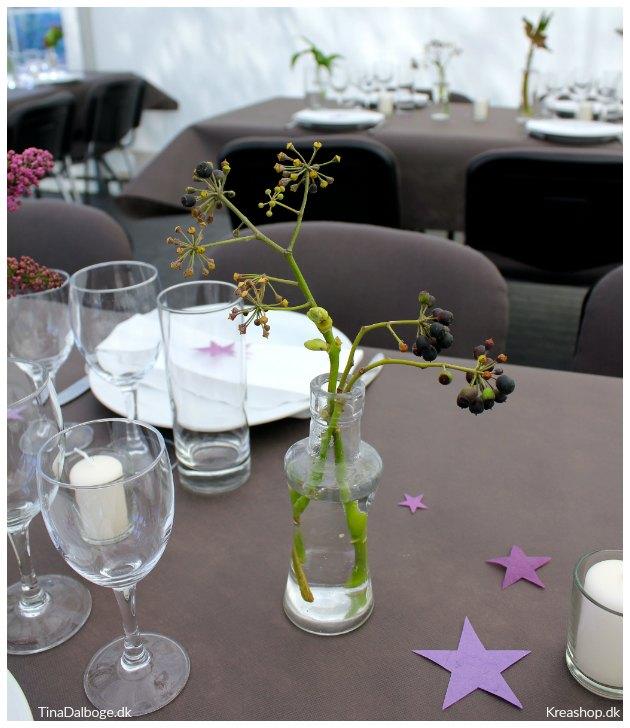 blomster til borddækning i maj fra have skov og strand tinadalboge