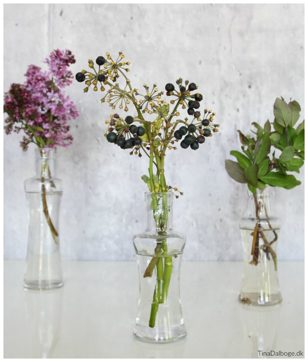 blomster til borddækning til fest i maj måned tinadalboge