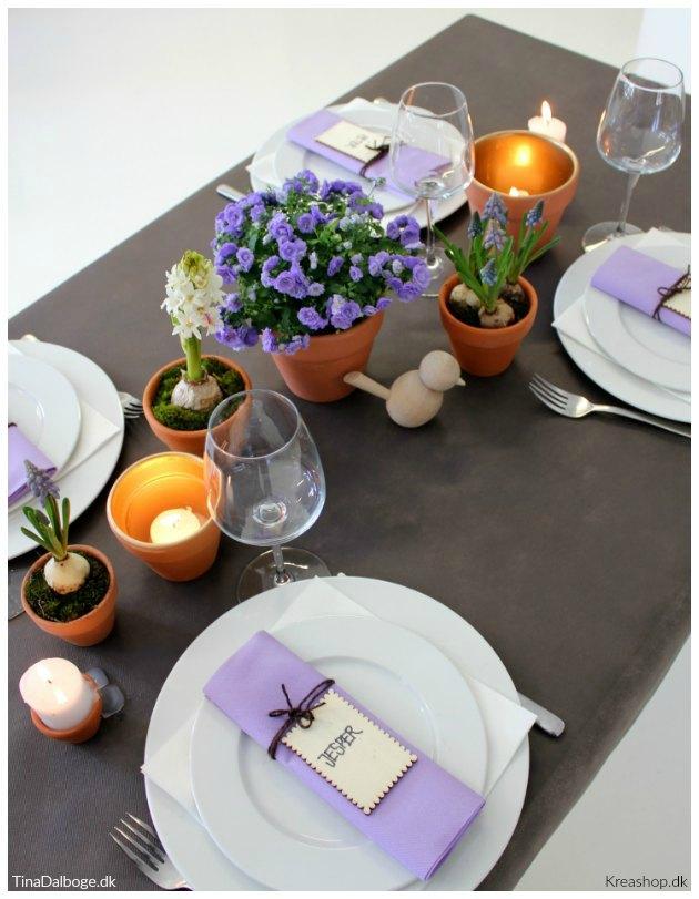 borddækning til konfirmation og fødselsdag når det er forår tinadalboge kreashop