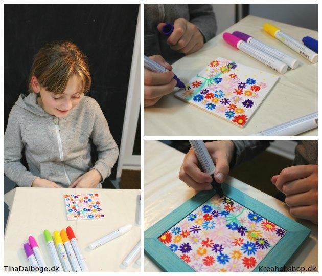 bordskåner malet med porcelænstusser som en gave børn kan lave