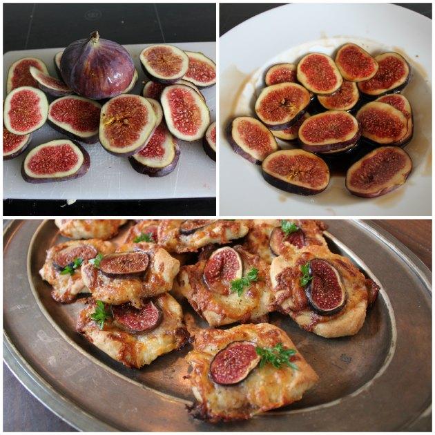 brød med mozzarella og figne