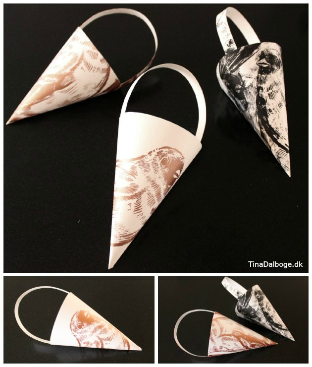 diy grafisk print på julepynt homemade tina dalboge kreahobshop
