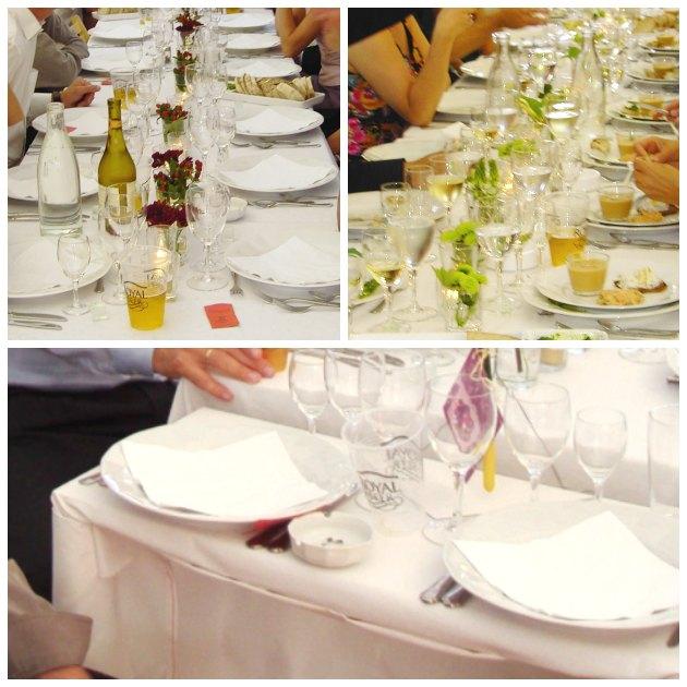 ekstra bord til brudeparret så de kan flytte rundt blandt gæsterne