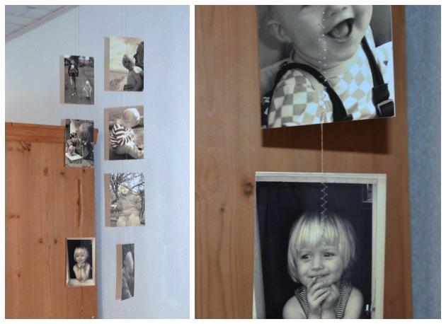 en sød måde at lave en uro af fotos og billeder