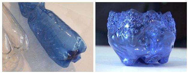 før og efter genbrug af plastikflaske til et lysglas program på dr1 tina dalbøge