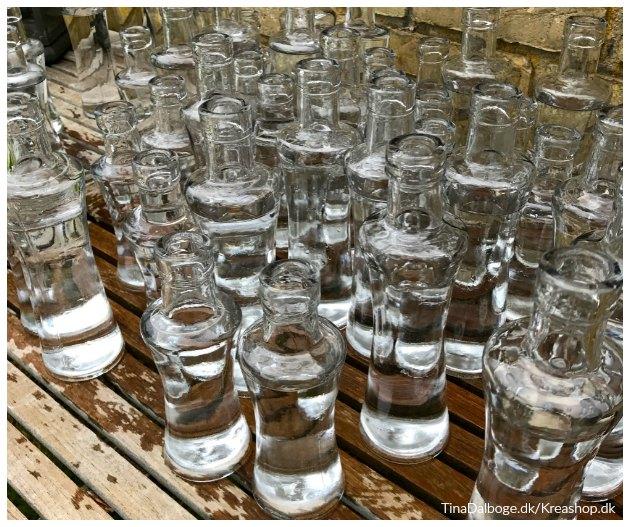 flasker til bordpynt til fester tinadalboge