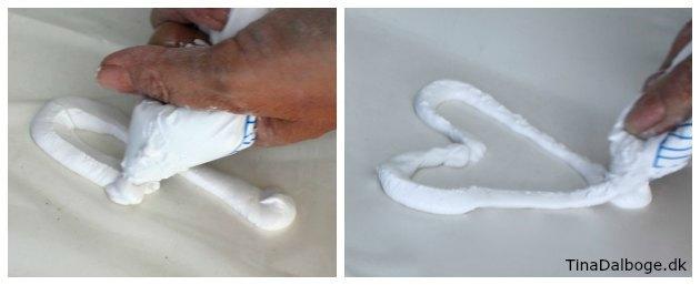 hjerte lavet med støbemasse cera-mix der er en slags stærk gips
