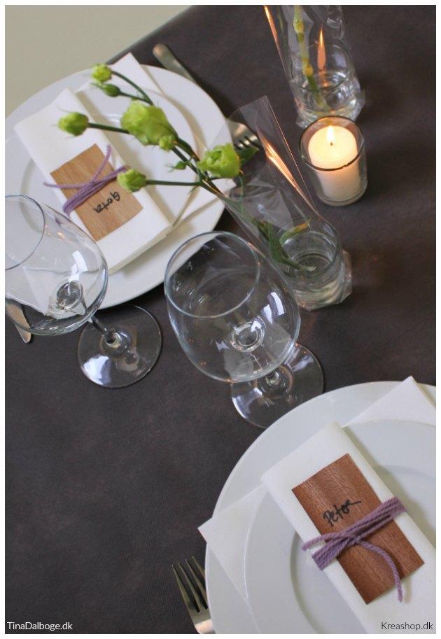 ide og inspiration til bordkort og bordpynt til fester tinadalboge