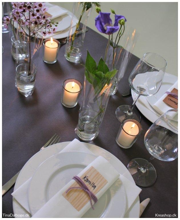 ide til bordkort borddækning og bordpynt tinadalboge