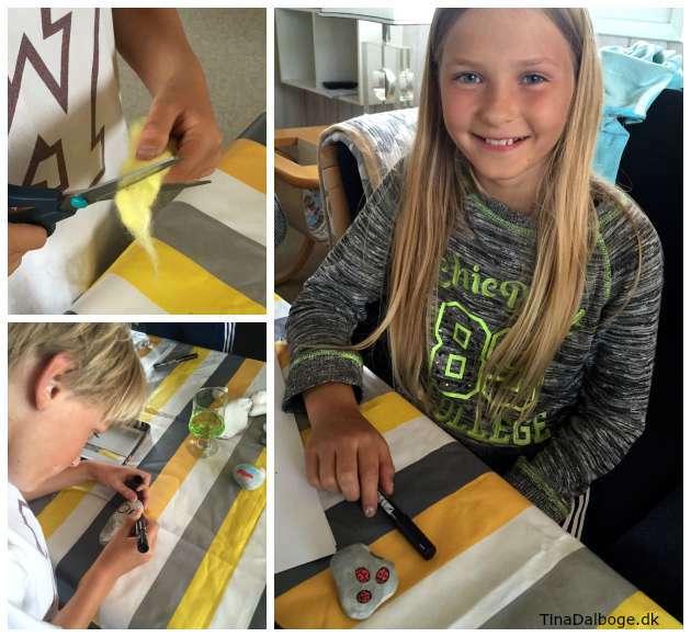 ide til hvad børn kan lave i en ferie - male på sten