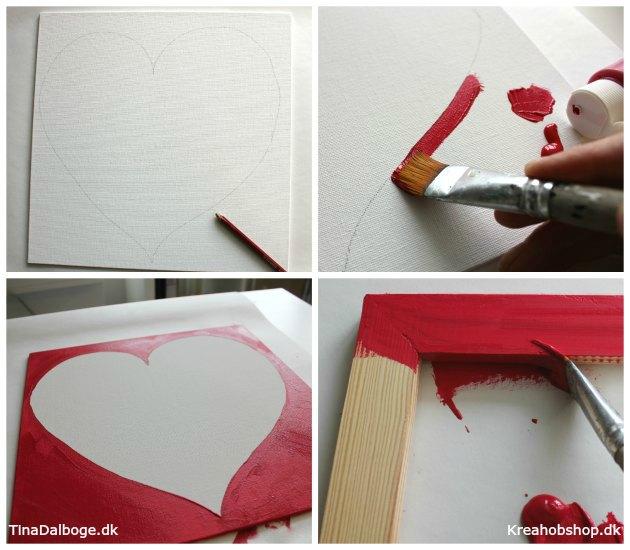indslag til bryllup med gæstetræ i hjerte materialer fra kreahobshop