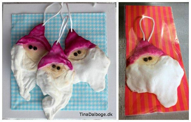 julemænd lavet af vat fra Tina Dalbøges kreative e-bog cool julepynt