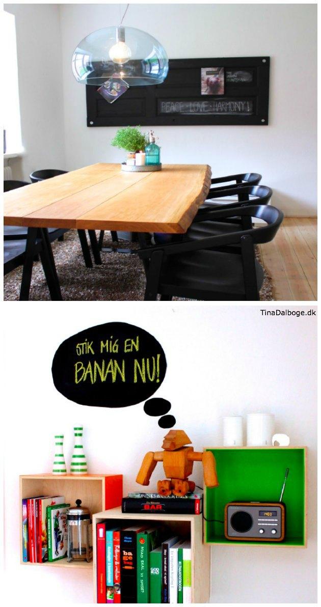 kreative ideer at bruge tavlemaling på - fra Tina Dalbøges e-bog Kreativ med tavler