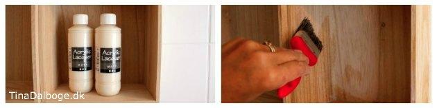 lakering af trækasser med mat lak hvis de skal hænge i et køkken