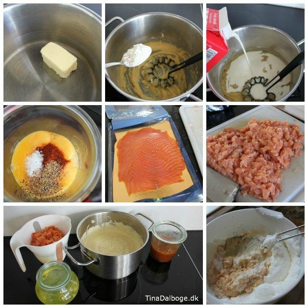 laske-souffle eller laksesoufle med fersk og røget laks - let at lave til en forret eller frokost - opskrift fra Tina Dalbøges kreative blog