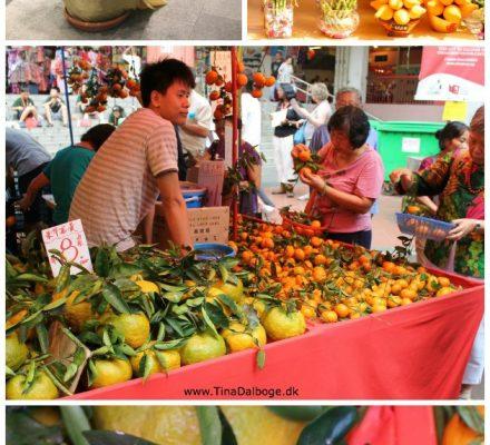 mandariner til det kinesiske nytår