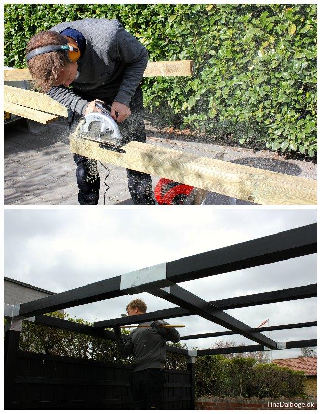 montering af termotag på overdækket terrasse