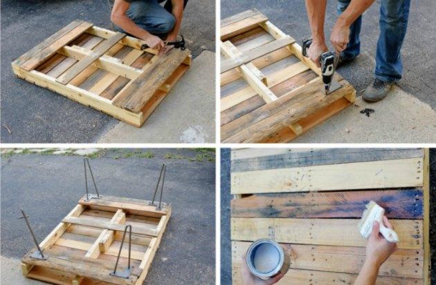 palle lavet om til et sofabord med hylde