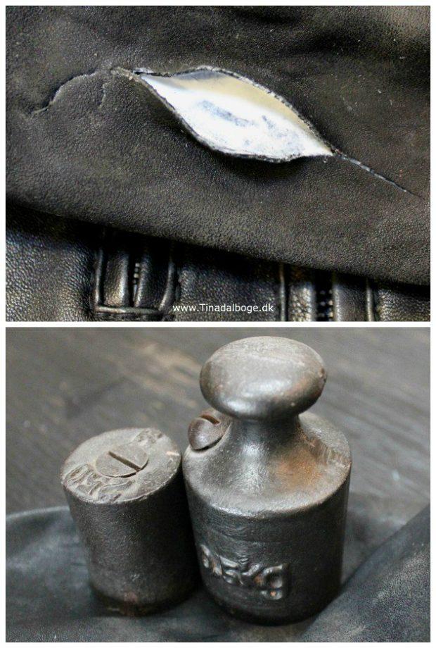 hul i lædertøj