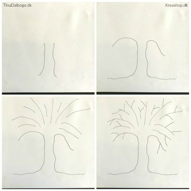 sådan tegner man et gæstetræ som indslag til en fest