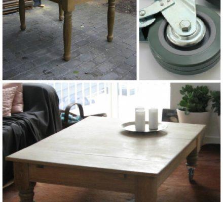 Se hvordan et gammelt anretterbord bliver lavet om til et råt sofabord