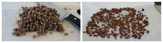 sprødt rugbrøds krymmel til forret med laks