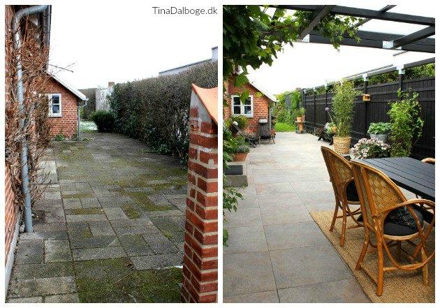 tina dalbøge terrasse med overdækning før og efter